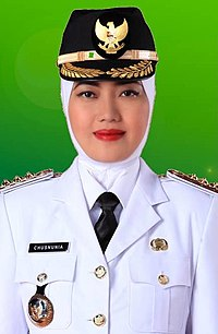 Chusnunia Chalim saat menjabat Bupati Lampung Timur