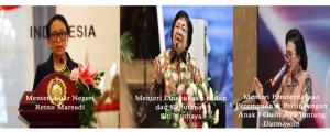 3 Menteri Perempuan Indonesia