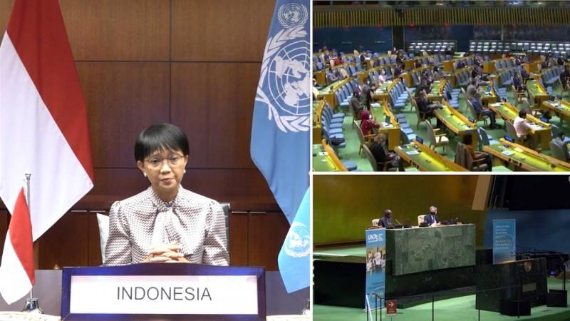 Menlu RI- 75 Tahun Berdiri, PBB Harus Perkuat Relevansi dan Adaptasi hadapi tantangan global