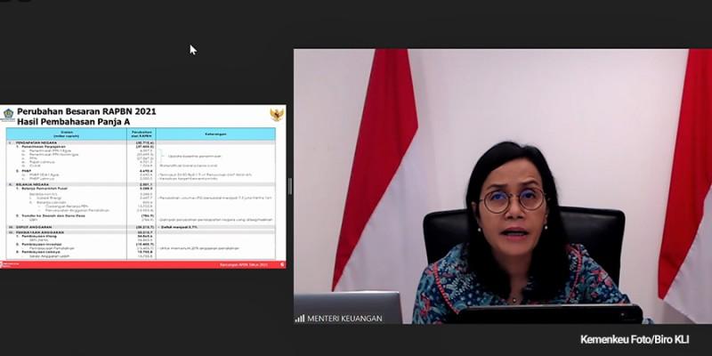 Menteri Keuangan Sri Mulyani - Postur Sementara RAPBN 2021 Disetujui DPR
