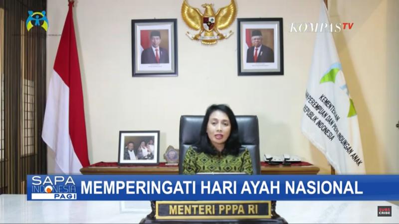 Menteri Bintang Puspayoga - Hari Ayah Nasional, Kehadiran Ayah Secara Lahir Dan Batin Penting Bagi Keluarga