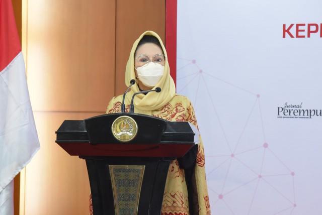 Anggota Presidium Kaukus Perempuan Parlemen Republik Indonesia (KPP-RI) Dewi Asmara